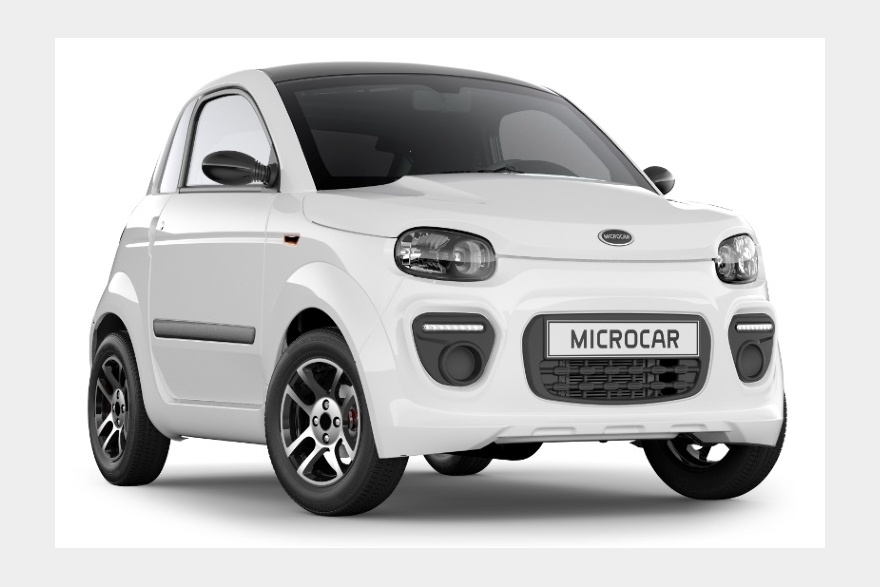 MICROCAR DUE 6 PLUS Blanc Glacier avant